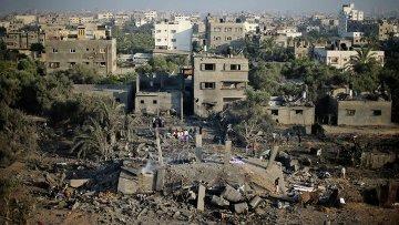 Последствия бомбардировок израильской армии в Секторе Газа