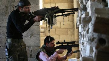 Боевики ведут бои в Сирии. Архивное фото