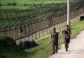 Южнокорейские военные несут службу возле границы с КНДР