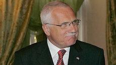 Президент Чехии Вацлав Клаус. Архив.