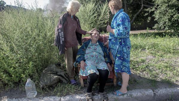 Последствия артобстрела Славянска украинскими военными, архивное фото
