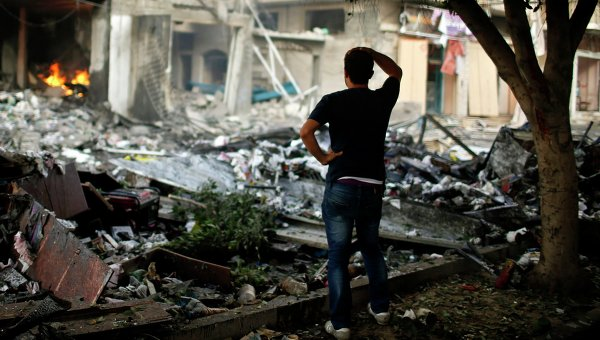 Последствия авиаударов израильской армии в Секторе Газа. Архивное фото.