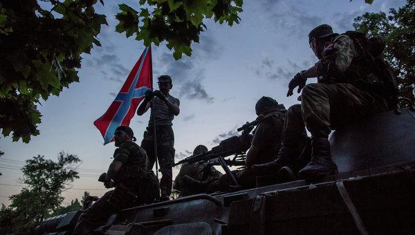 Бойцы ополчения Донбасса