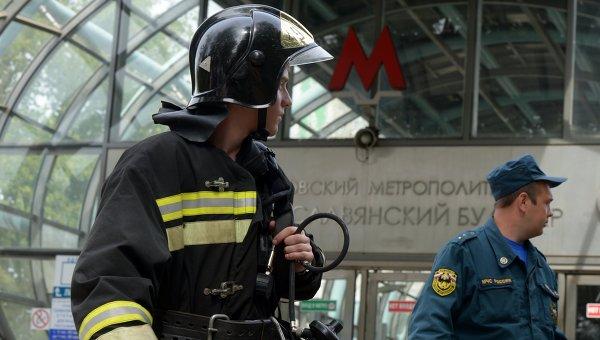 Вагон поезда метро сошел с рельсов на перегоне Парк Победы - Славянский бульвар
