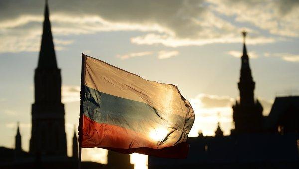 Российский флаг на Красной площади