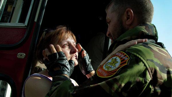 Отправка колонны с беженцами из Донецка в Россию. Архивное фото