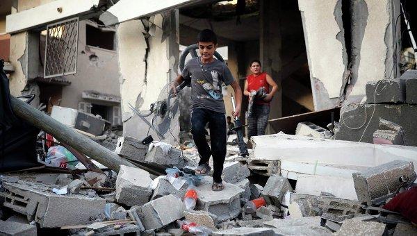 Последствия обстрела сектора Газы. 17 июля 2014
