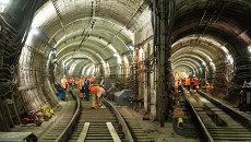 Восстановительные работы на месте аварии в метро. Архивное фото