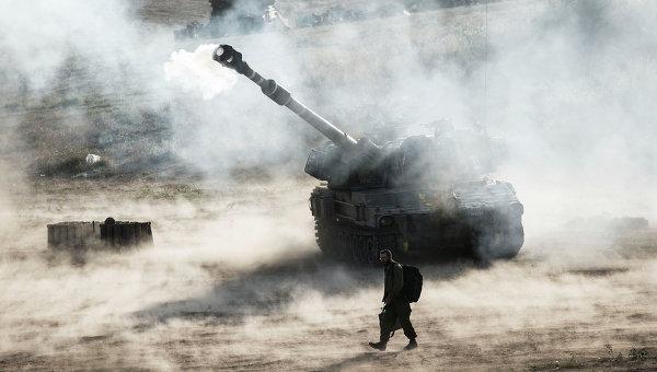 Израильская артиллерия на границе с сектором Газа