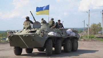 Украинские военные возле Донецка. Архивное фото