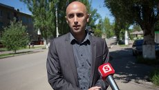 Журналист из Великобритании Грэм Филлипс во время работы на Украине. Архивное фото.