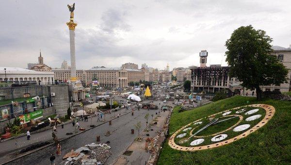 Вид на площадь Независимости в Киеве.Архивное фото.