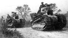 Французские танки Renault FT-17 в Аргонском лесу во Франции