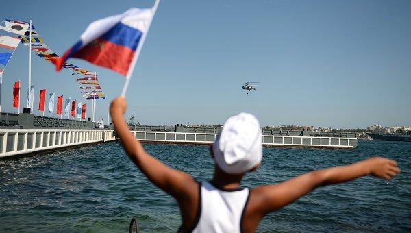 Во время празднования Дня Военно-морского флота России в Севастопол