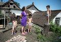 Семья беженцев из Луганской области