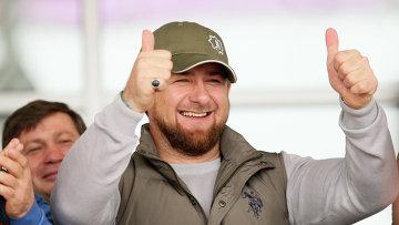 Глава Чечни Рамзан Кадыров на скачках в Гудермесе