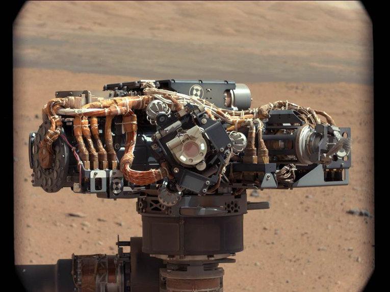 Изображение альфа-частицы рентгеновского спектрометра на марсаходе  Curiosity