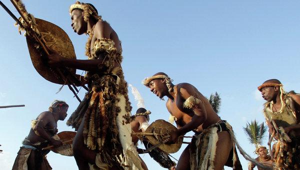 Представители племени зулусов, Южная Африка