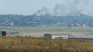 Последствия артобстрелов в Донецкой области. Архивное фото