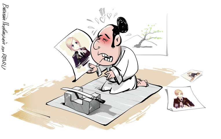Картинки по запросу Карикатура  харакири