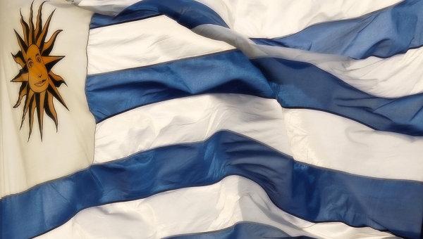 Флаг Республики Уругвай, архивное фото
