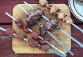 Шашлык из говядины, баранины и свинины