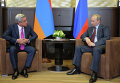 Встреча В.Путина с С.Саргсяном