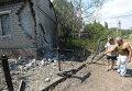Разрушения в городе Горловка Донецкой области