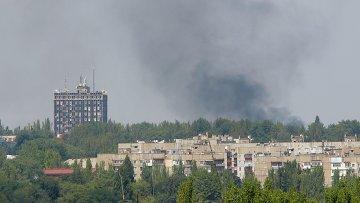 Донецк после обстрела украинской армией. Архивное фото