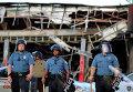 Полиция на месте массовых беспорядков в городе Фергюсон, США