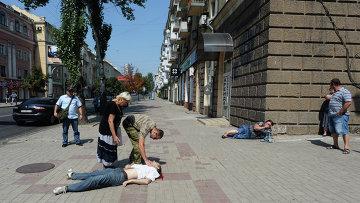 В результате обстрела в Донецке пострадали мирные жители
