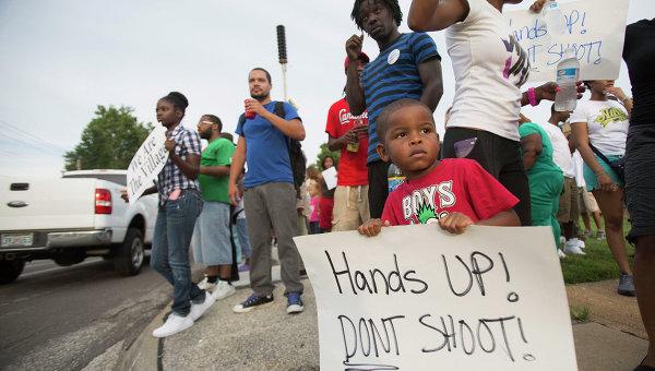 Акции протеста в городе Фергюсон, штат Миссури