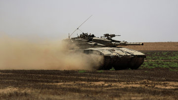 Израильские военные возле сектора Газа. Архивное фото