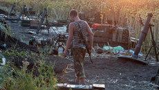 Позиция украинской армии возле Донецка. Архивное фото