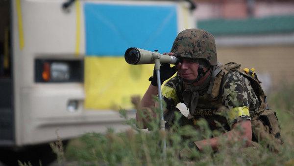 Боец батальона Донбасс, архивное фото