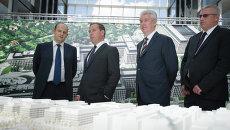 Сергей Собянин и Дмитрий Медведев посетили офисный парк «Комсити»