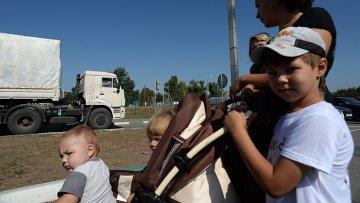 Машины из состава гуманитарного конвоя РФ возвращаются в Россию