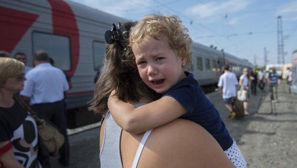 Беженцы c Украины. Архивное фото