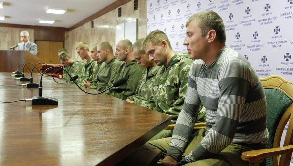Российские десантники, задержанные на Украине за незаконное пересечение границы