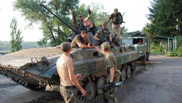 Ополченцы Донецкой народной республики, архивное фото