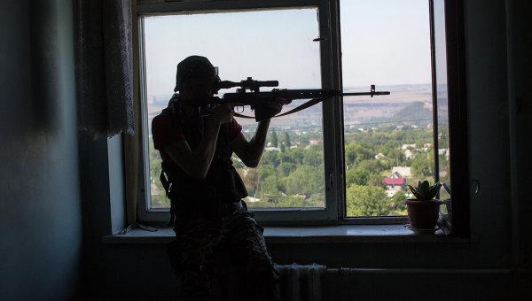 Бои за город Шахтерск Донецкой области. Архивное фото