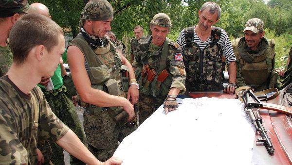 Ополченцы Донецкой народной республики (ДНР) в Донецкой области. Архивное фото
