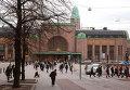 Здание городского железнодорожного вокзала в Хельсинки