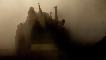 Бронетраспортер во время проверки боевой готовности войск Восточного военного округа. Архивное фото