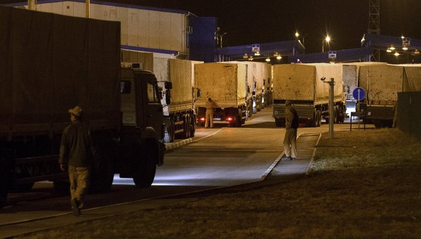 Российский конвой с гуманитарной помощью юго-востоку Украины начал движение