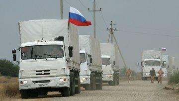 Второй российский конвой с гуманитарной помощью юго-востоку Украины