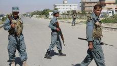 Афганская полиция в Кабуле