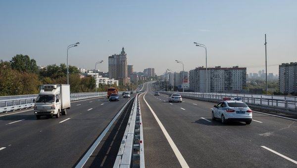 Открытие самой длинной эстакады в Москве