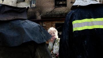 Донецк после артобстрела. Архивное фото