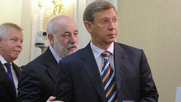 Председатель совета директоров АФК Система Владимир Евтушенков (справа). Архивное фото